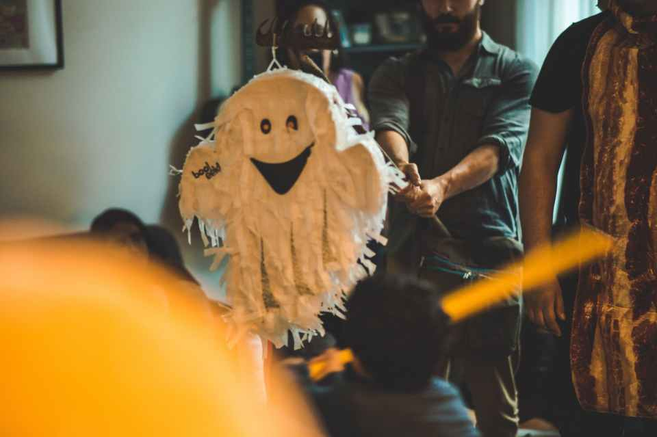 Ghost Piñata at a halloween party