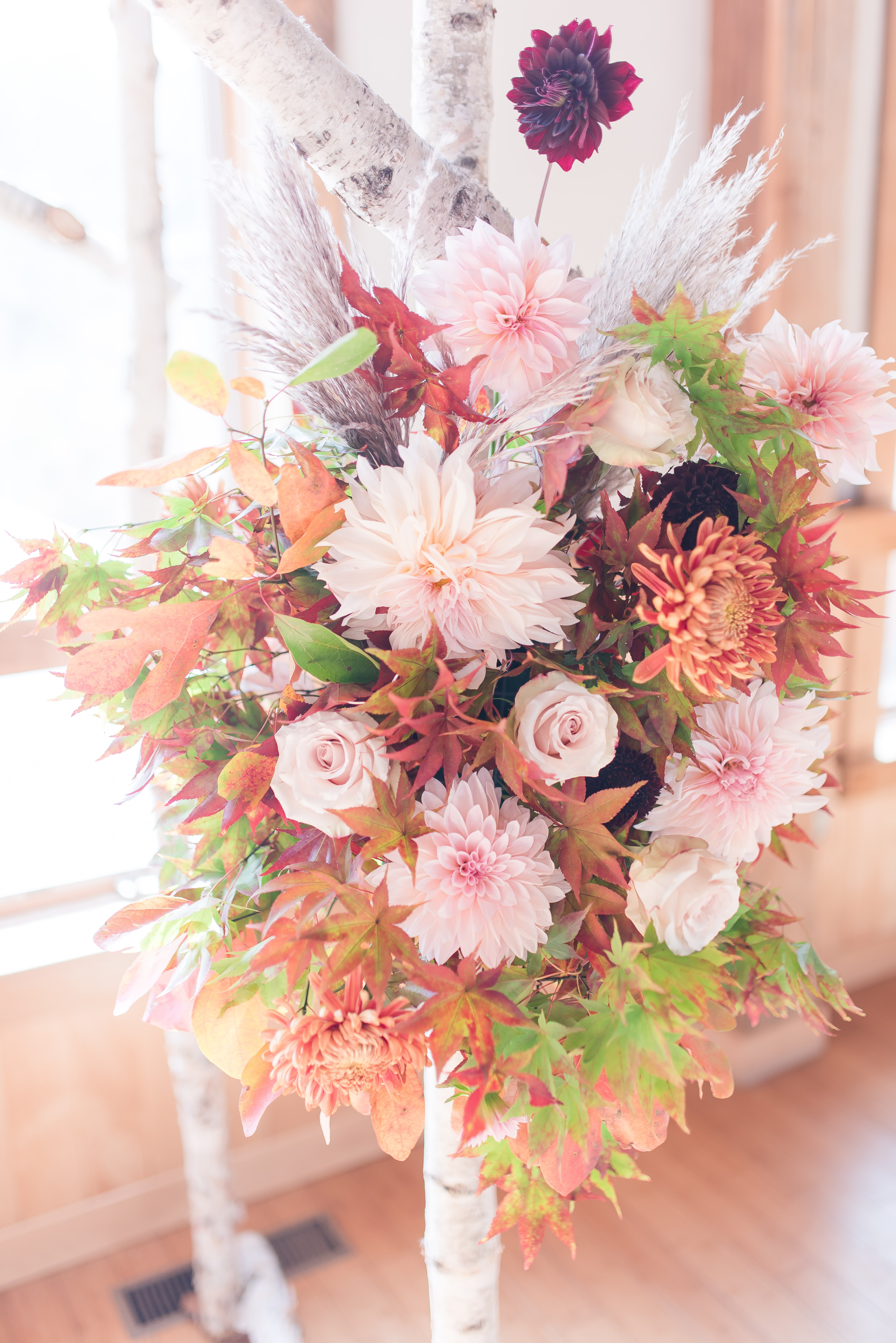 bouquet attached to a