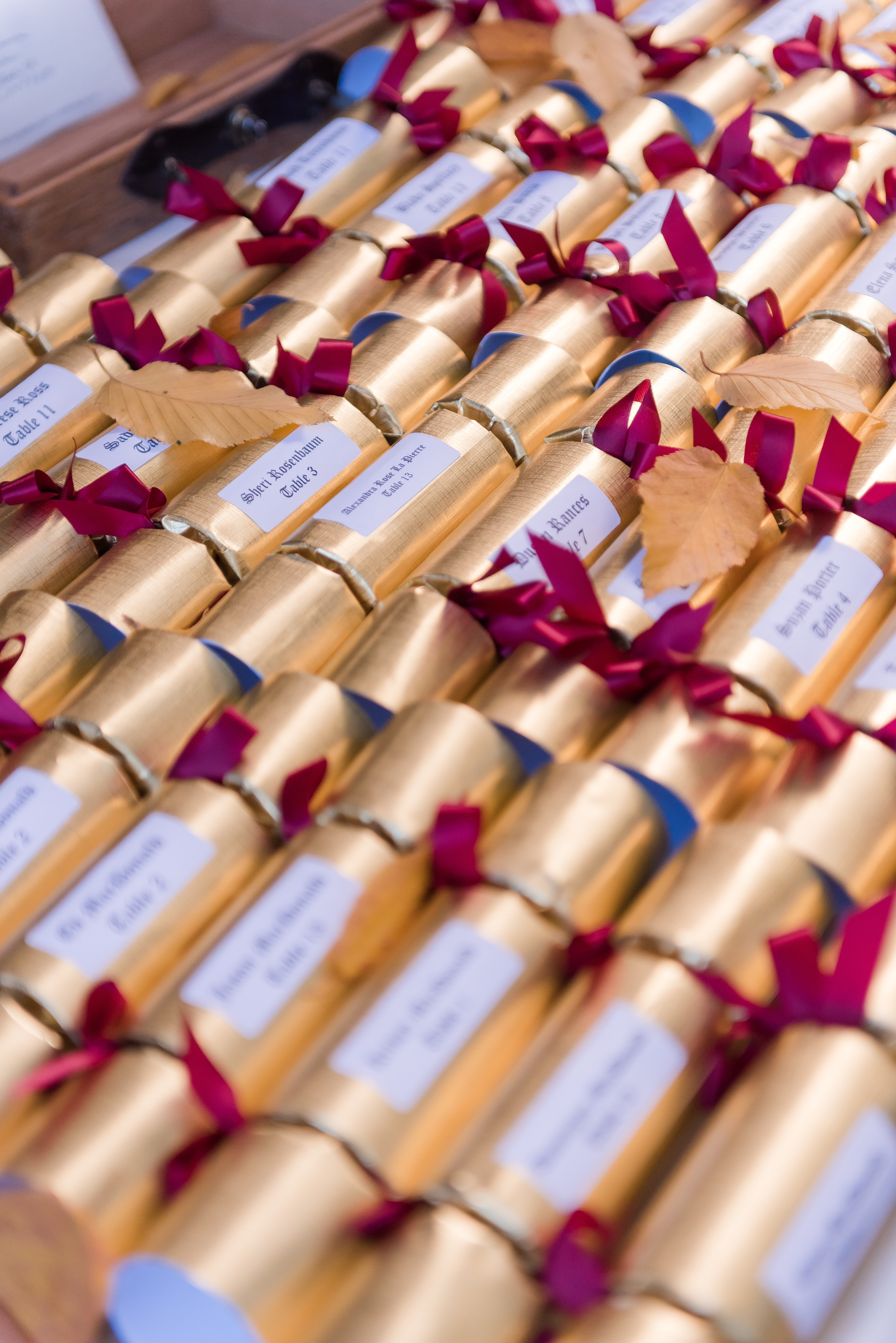 gold wedding favors in tubes