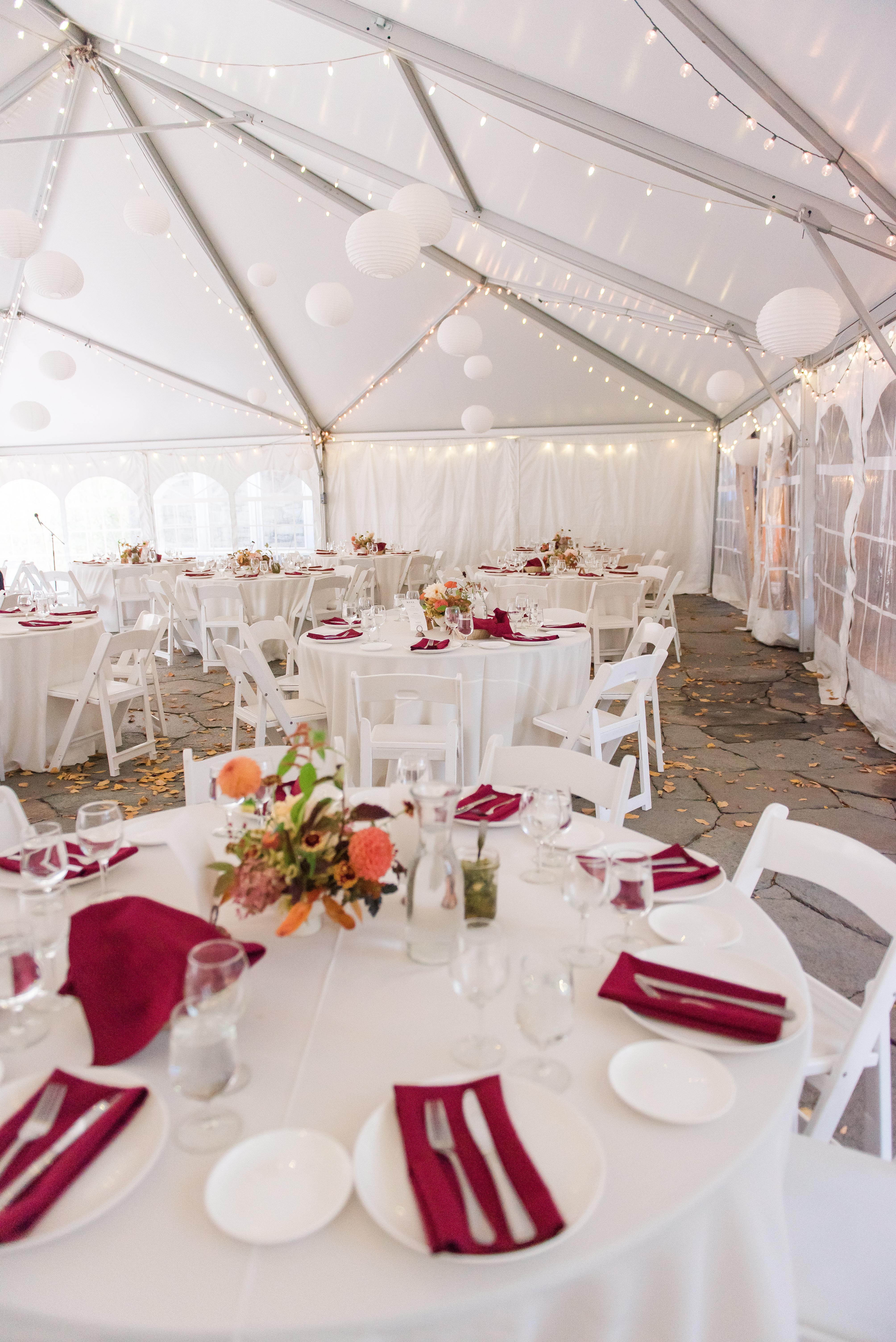 wedding reception in tent